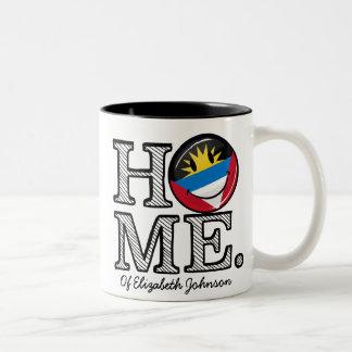 Antigua and Barbuda Smiling Flag Housewarming Two-Tone Coffee Mug