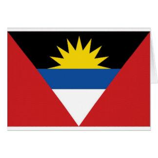 Antigua Barbuda National Flag Card