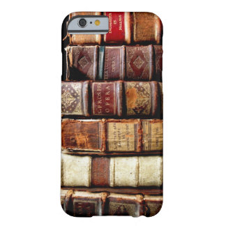 Antique 18th Century Design Leather Binding books Barely There iPhone 6 Case