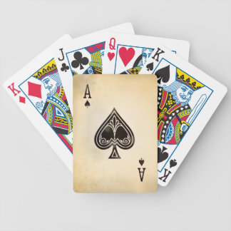 Antique Ace of Spades Bicycle Playing Cards