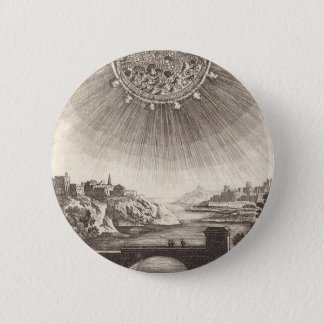 Antique Astronomy Celestial Sky with Sun by Mallet 6 Cm Round Badge