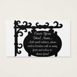 Antique Black Scroll Sign Easy Business Cards