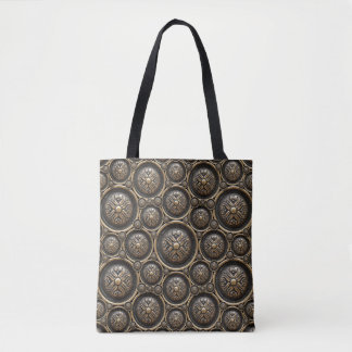 Antique Bronze Pattern All-Over-Print Tote Bag