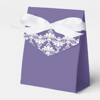 Antique Damask Wedding Favor Box Dark Purple Party Favour Boxes