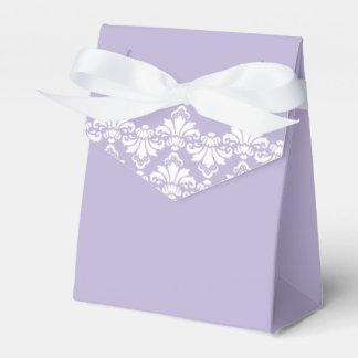 Antique Damask Wedding Favor Box Lilac Purple Favour Boxes