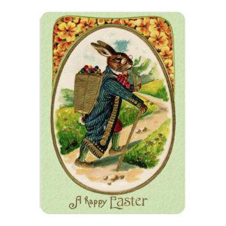 Antique Erudite Easter Rabbit Informal Invitation