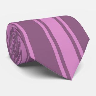 Antique fuchsia Color Stripe Funky Pattern Tie