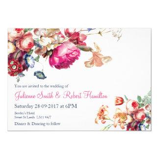 Antique Garden | Vintage Floral Wedding Invitation