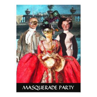 ANTIQUE ITALIAN PUPPETS MASQUERADE COSTUME PARTY CUSTOM INVITE