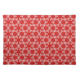 Antique lace - deep red and white placemat