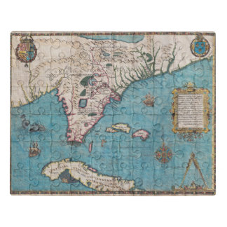Antique Map of Florida and Cuba Jigsaw Puzzle