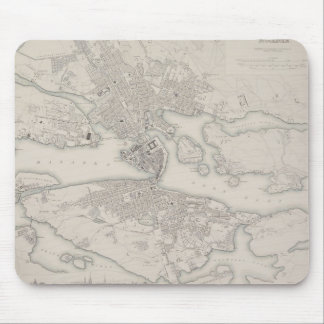 Antique Map of Stockholm, Sweden Mouse Pad