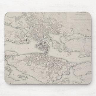 Antique Map of Stockholm, Sweden Mouse Pad