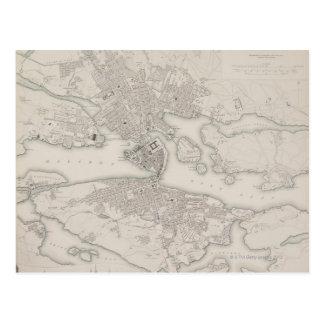 Antique Map of Stockholm, Sweden Postcard
