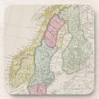 Antique Map of Sweden Coaster