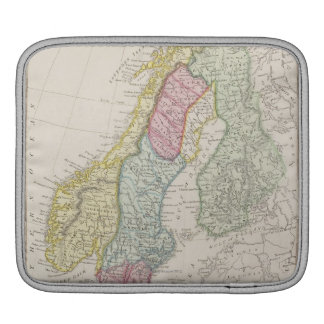 Antique Map of Sweden iPad Sleeve