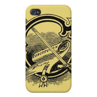 Antique Masonic Symbol Calligraphy Letter C Case For iPhone 4