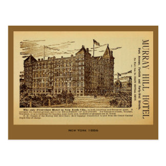 Antique Murray Hill Hotel ad New York City Postcard