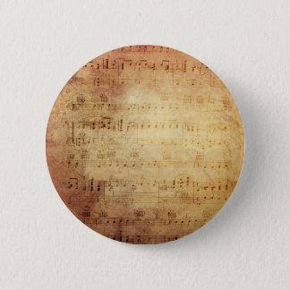 Antique Music 6 Cm Round Badge