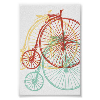 Antique penny farthing design poster