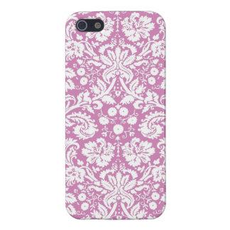 Antique pink damask pattern iPhone 5 case