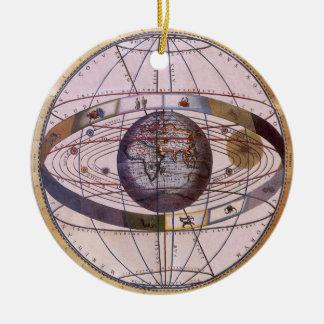 Antique Ptolemaic Solar System, Andreas Cellarius Christmas Ornament
