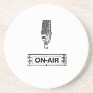 Antique Radio Mic On-Air Light Coaster