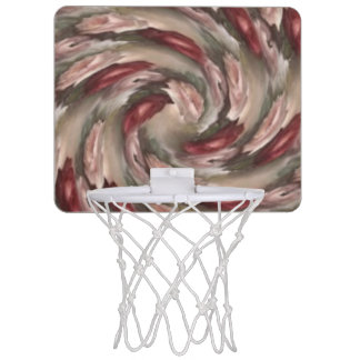 Antique Rose Swirl Mini Basketball Hoop