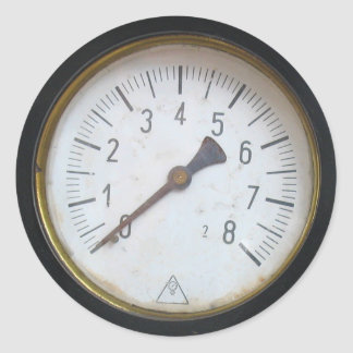 Antique Round Pressure Meter Gauge Dial Stickers