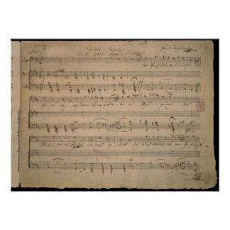 Antique Sheet Music, Song of the Old Man, 1822 Poster