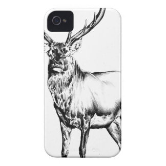 Antique stag art drawing handmade nature iPhone 4 case