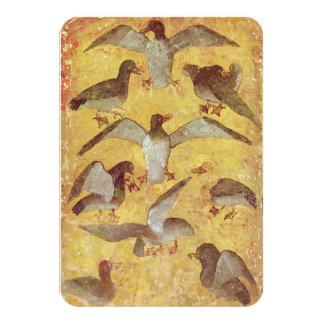 Antique Tarots /German Court Cards/Nine of Ducks 9 Cm X 13 Cm Invitation Card