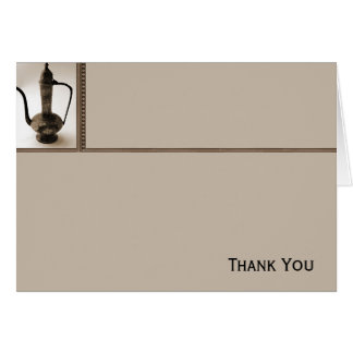 Antique Teapot on Taupe Card