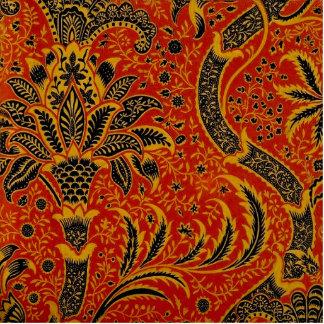 Antique Textile Carpet Red Wallpaper Pattern Photo Sculptures