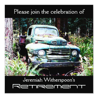Antique Truck Retirement Party Card