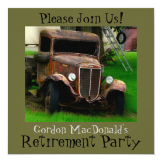 Antique Truck Retirement Party Invite