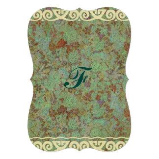 Antique,vintage,aqua,floral,lace,pattern,victorian Cards