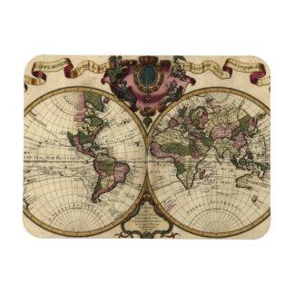 Antique World Map by Guillaume de L'Isle, 1720 Magnet