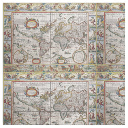 World map fabric for upholstery quilting crafts zazzle antique world map custom fabric gumiabroncs