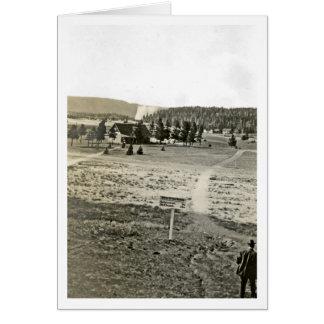 Antique Yellowstone Upper Geyser Basin Photo Card