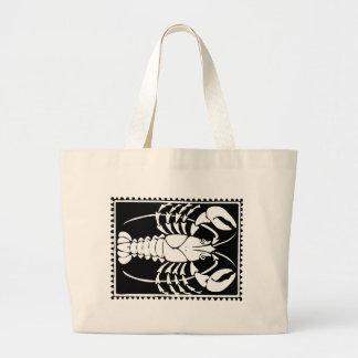 Antique Zodiac Astrology Cancer Totebag Jumbo Tote Bag