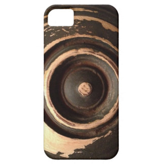 antiqued wood circle iPhone 5 cover