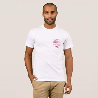 ANTISOCIAL CLUB PINK FITTED FRONT AND BACK T-Shirt