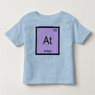 Anton Name Chemistry Element Periodic Table Toddler T-Shirt
