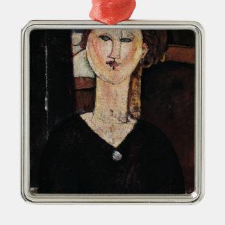 Antonia, c.1915 Silver-Colored square decoration