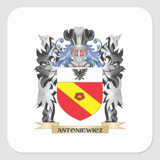 Antoniewicz Coat of Arms - Family Crest Square Sticker