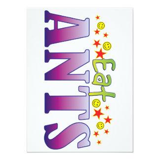 Ants Eat 14 Cm X 19 Cm Invitation Card
