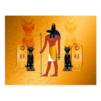 Anubis, ancient Egyptian god Postcard