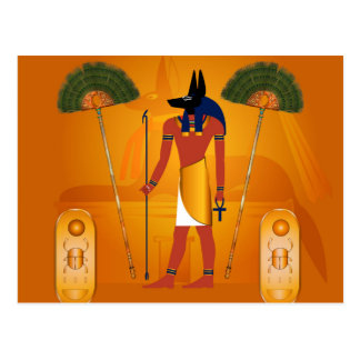 Anubis, ancient Egyptian Postcard