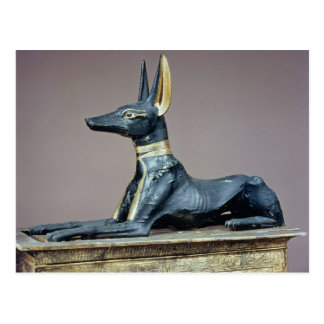 Anubis, Egyptian god of the dead from a chest Postcard